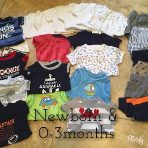 0-3 months baby boy clothes for Sale in Richmond, VA