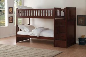 Bunk Bed with Reversible Step Storage for Sale in Modesto, CA