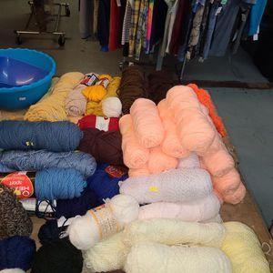 Skeins If Yarn $1.50 Each, Ball Of Yarn Medium 50c, Small Ball Of Yarn 25c for Sale in Portland, OR