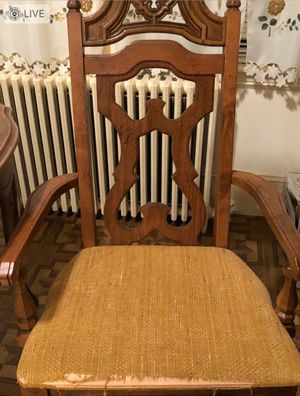(2) Antique wood hand carved arm chairs for Sale in DORCHESTR CTR, MA