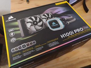Corsair h100i RGB water cooler for ryzen and Intel CPUs am4 for Sale in Edgewood, WA