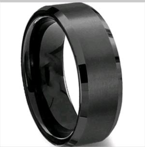 Brand New Black Wedding Band/ Engagement Ring Sz 8(Will Meet Local) for Sale in San Antonio, TX