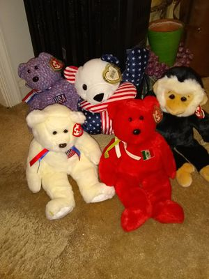 5 large beanie babies all with tags$10 each for Sale in Alexandria, VA