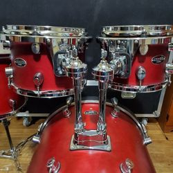 PACIFIC by DW Drumset 4pc FS SERIES 100% BIRCH Drum Shells REMO Heads & Tom Mounts for Sale in Long Beach,  CA