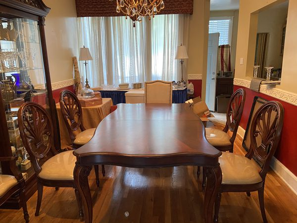 Solid Wood 8 piece dining table set