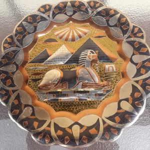 Egyptian Etched Metal Plate Decor for Sale in Tempe, AZ
