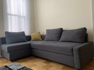 Ikea FRIHETEN Corner sofa-bed with storage, Skiftebo dark gray for Sale for sale  Queens, NY