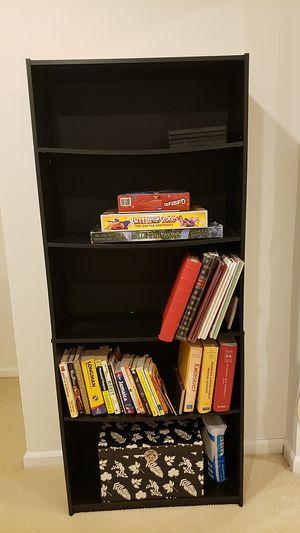 Black wooden bookshelves for Sale in Gaithersburg, MD