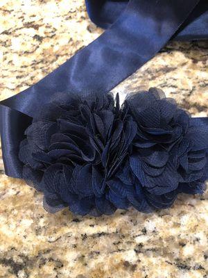 Navy Belt/ Sash for formal dress for Sale in Palm Harbor, FL