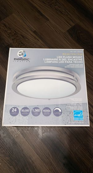 Brand New in Box LED Flushmount Light Fixture Brushed Nickel for Sale in Cleveland, OH
