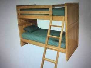 Original cargo-. Bunk beds with ladder a desk and side table for Sale in Sugar Land, TX