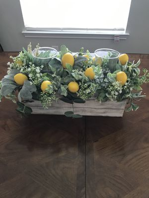 Farmhouse Lemon Candle Holder for Sale in Cypress, TX