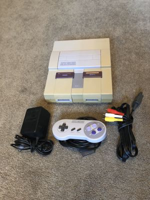 SNES Console and All Official Super Nintendo Cables with Great Controller for Sale in Riverside, CA
