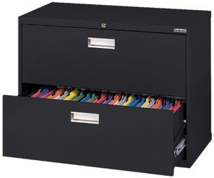 """Sandusky 600 Lateral File Steel 2 Drawer Cabinet, 36"""" W x 28-3/8 """" H x 19/12"""" D, Black for Sale in Alexandria, KY"""