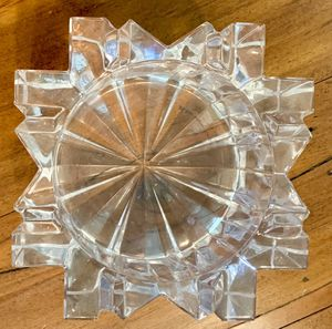 Heavy Crystal Dish or Pillar Candle Holder for Sale in Chino Hills, CA
