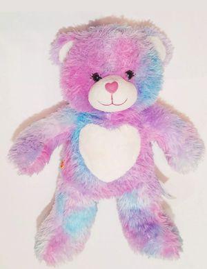 "Build A Bear Endless Heart Hugs Pastel Tie Dye 16"" Plush Teddy Blue Pink for Sale in Dale, TX"