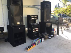 Audio equipment, dfx speakers , club pro bases and Gemini mixer for Sale in El Cajon, CA
