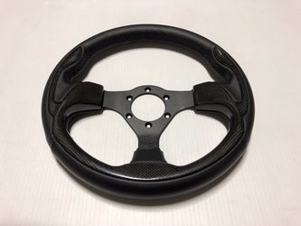 NRG Pilota Carbon Fiber Universal Steering Wheel - 6 Bolt - Chevy Dodge Jeep GMC Ford Nissan Infiniti Lexus Toyota Acura Honda Scion Subaru for Sale in Camp Pendleton North,  CA