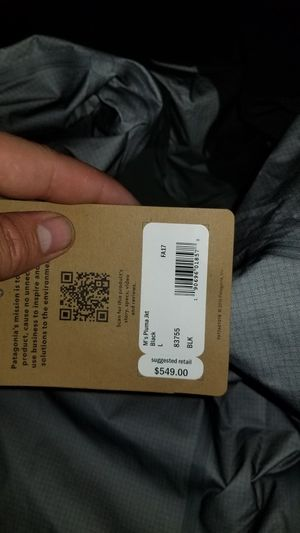 Large pluma gortex Patagonia jacket asking 250$ for it the tag says 550$ never been worn tags are still on it for Sale in Denver, CO