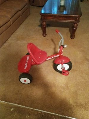 Toddler bike and helmet! Helmet never used , bike rarely used. I would assume for 2-3 age. My granddaughter is tall and 3 1/2 for Sale in Portland, OR