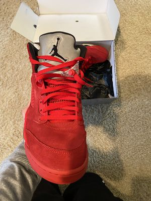 Jordan 5 red suede size 12 for Sale in Blacklick, OH
