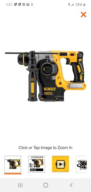 DEWALT 20-Volt MAX Lithium-Ion Cordless 1 in. SDS-Plus Brushless L-Shape Concrete & Masonry Rotary Hammer (Tool-Only) for Sale in Dumfries, VA