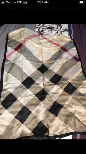 New authentic Burberry beige 100% silk scarf for Sale in Montvale, NJ