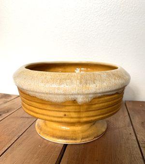 • vintage ceramic planter pot orange drip • for Sale in Issaquah, WA