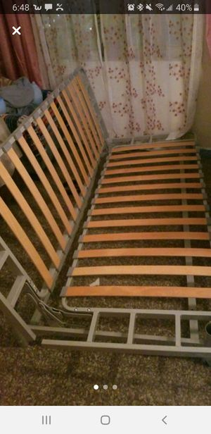 metal bed frame futon. usted best offer for Sale in Queens, NY