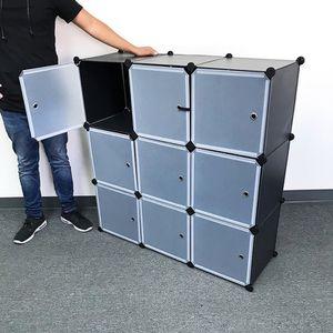 "New in box $40 Plastic Storage 9-Cube DYI Shelf with Door Clothing Wardobe 43""x14""x43"" for Sale in El Monte, CA"