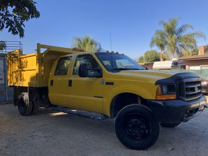 Dump Truck 2000 Ford Super Duty F450 XL V8 7.3L Diesel Crew Cab for Sale in City of Industry, CA