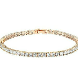 Rose Gold Plated 3mm Cubic Zirconia Bracelet for Women for Sale in Rowland Heights, CA