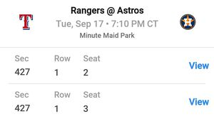 Astros-Rangers September 17th - Greinke Jersey giveaway night for Sale in Magnolia, TX