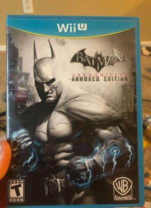 Batman Arkham City Armored Edition Wii U $15 Nintendo for Sale in Las Vegas, NV