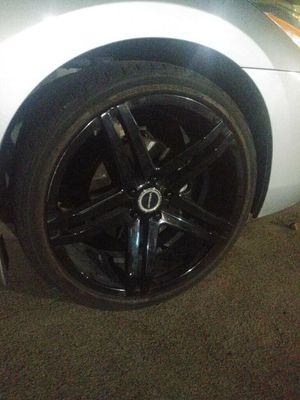 "20"" 5 lug rims and tires for Sale in Dallas, TX"
