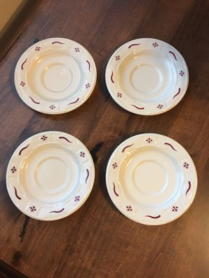 Longaberger Set of 4 Traditional Red Saucers for Sale in Washington, DC