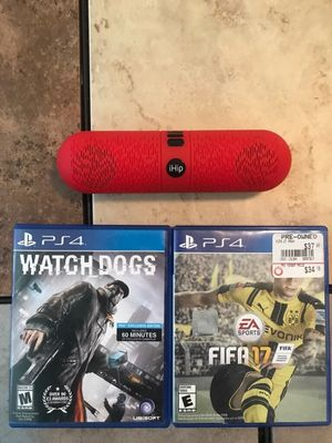Ps4 games and speaker. (Everything included) for Sale in Alexandria, LA