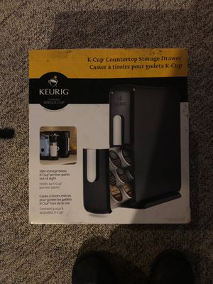 2- Keurig- K-Cup Countertop Storage Drawer Holders, SLIM! Holds 24 each for Sale in Plainfield, IL