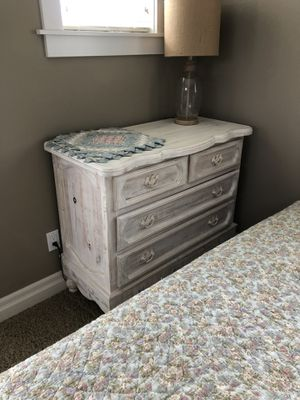 Bedroom set. Dresser, bed with headboard footboard and mattress. for Sale in Gig Harbor, WA