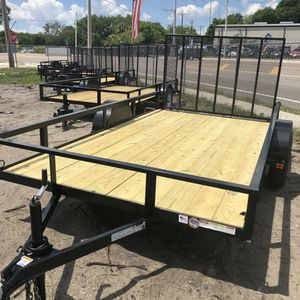 6.5x12 Utility trailer 2019 for Sale in Tampa, FL