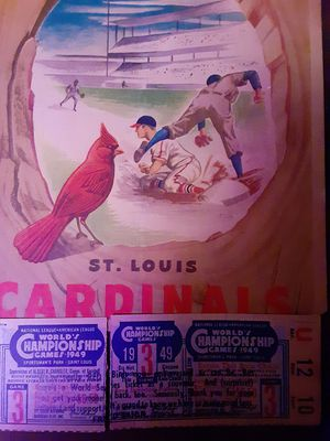 1949 world's championship cardinals ticket for Sale in House Springs, MO