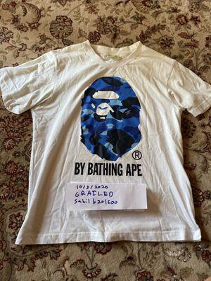 Bape Blue Camo Head T-Shirt Size Medium for Sale in San Jose, CA