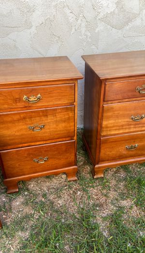 """Stickley """"Cherry valley"""" dresser, Mirror and 2 night stands for Sale in Carlsbad, CA"""