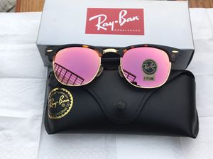 Ray ban rose gold clubmaster sunglasses for Sale in San Francisco, CA