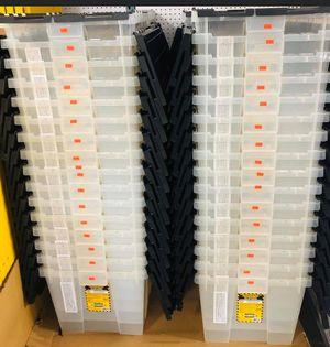Flip Top 12 Gallon Crate Storage Box Container for Sale in La Habra, CA