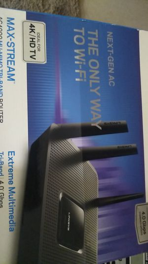 Linksys tri band 4.0gbps ac4000 my tri band router for Sale in Tacoma, WA