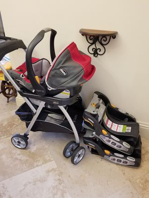 Chicco ingant car seat carseat stroller 2 base bases for Sale in Davie, FL