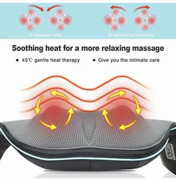 Shoulder Massage Neck Electric Back Relax Heat Body Waist Foot Tissue Kneading