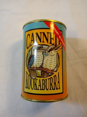 Canned Kookaburra, Aussie Cans, Cute Gift, Stuffed Animal, Collectible, Toy, Sealed, New for Sale in Denver, CO