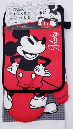 Disney Mickey Mouse 3 Piece Kitchen Set NWT for Sale in Fontana, CA